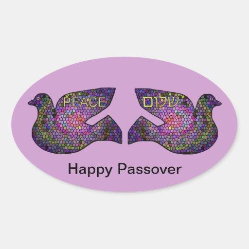 Shalom Peace Doves Happy Passover Stickers