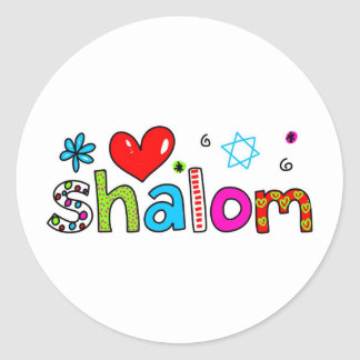 Shalom Pegatina Redonda