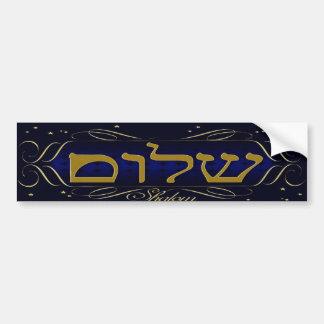 ¡Shalom! Pegatina para el parachoques del azul y d Pegatina Para Auto