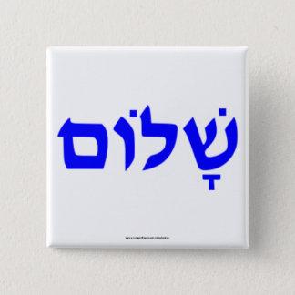 Shalom Pinback Button