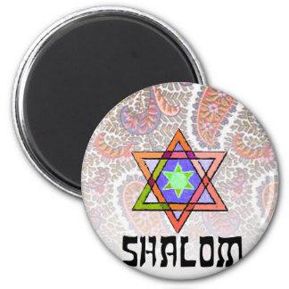 Shalom Pink Paisley Fridge Magnet