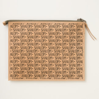 Shalom Repeat Pattern Travel Pouch