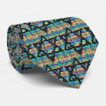 Shalom-Star of David/colorful Neck Tie