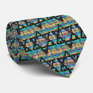 Shalom-Star of David/colorful Neck Tie