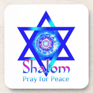SHALOM Star of David_Pray for Peace of Israel Coaster