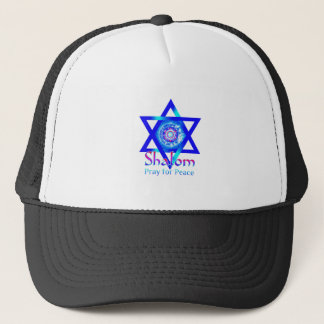 SHALOM Star of David_Pray for Peace of Israel Trucker Hat