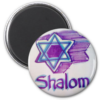Shalom Star of David products 2 Inch Round Magnet