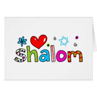 Shalom Tarjeta De Felicitación