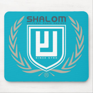 Shalom Tri Color Crest Mouse Pad