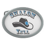 Shalom usted hebilla de cinturon oval