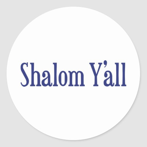 Shalom usted pegatinas redondas