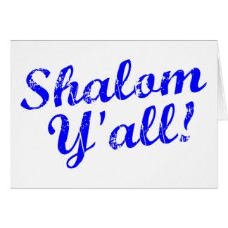 ¡Shalom usted! Tarjeta De Felicitación