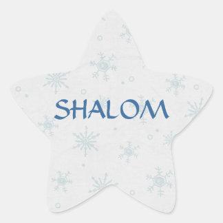 Shalom Wishes Hanukkah Star Stickers