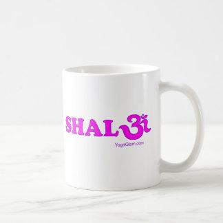 Shalom with Om in Sanskrit Coffee Mug