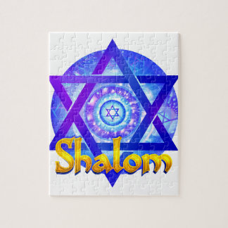 SHALOM with Star of David Medallion Jigsaw Puzzle