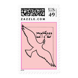 Shalom y paloma del franqueo de la paz