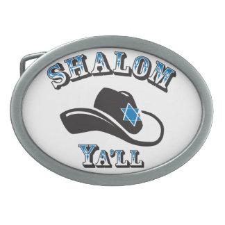 Shalom Ya'll Belt Buckles