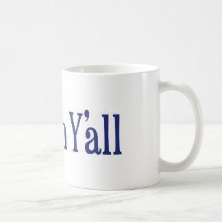Shalom Y'all Classic White Coffee Mug