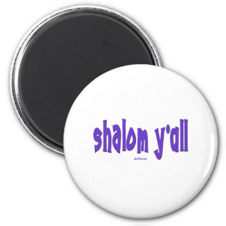 SHALOM Y'ALL GIFTS 2 INCH ROUND MAGNET