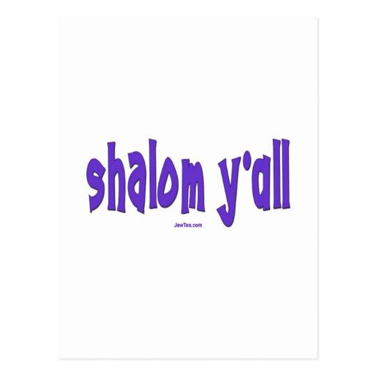 SHALOM Y'ALL GIFTS POSTCARD