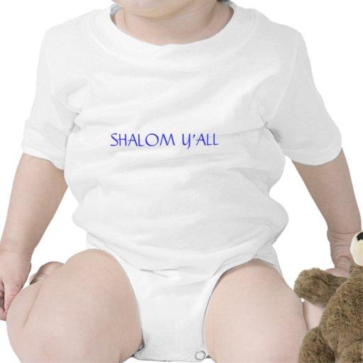 SHALOM Y'ALL JEWISH INFANTS OR T SHIRT