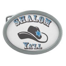 Shalom Ya'll Oval Belt Buckle