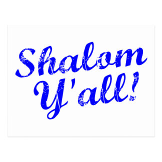 Shalom Y'all! Postcard