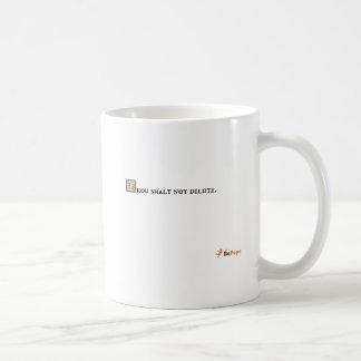 Shalt de mil no diluído taza de café