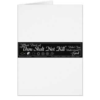 Shalt Not Kill Greeting Cards