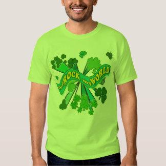 sham ROCK my WORLD Green St Pats Tshirt