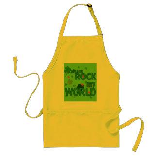 Sham Rock My World with Shamrocks Adult Apron