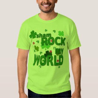Sham Rock My World with Shamrocks All Sizes Shirt