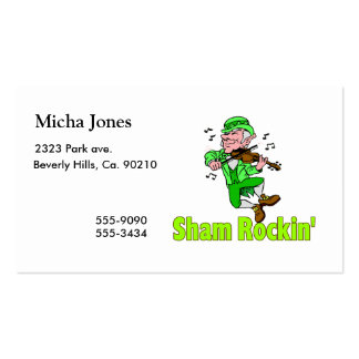 Sham Rockin Double-Sided Standard Business Cards (Pack Of 100)