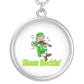 Sham Rockin Round Pendant Necklace