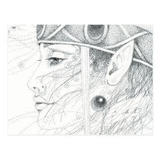 Shaman angel guide postcards