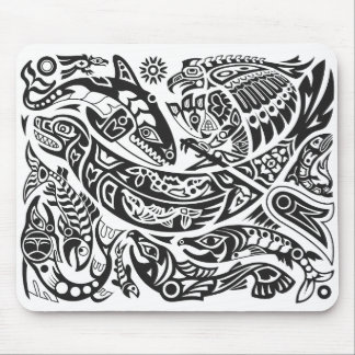 Shaman, ballena y arte del Haida de Thunderbird Mouse Pad