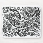 Shaman, ballena y arte del Haida de Thunderbird Tapetes De Raton