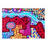 Shaman de la flor y diseños del sueño plantillas de tarjetas de visita
