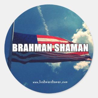 SHAMAN DEL BRAHMAN - PEGATINA DE LA BANDERA