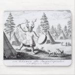 Shaman del nativo americano tapetes de ratón