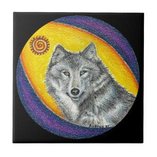 Shaman Healing Wolf (black) Tile