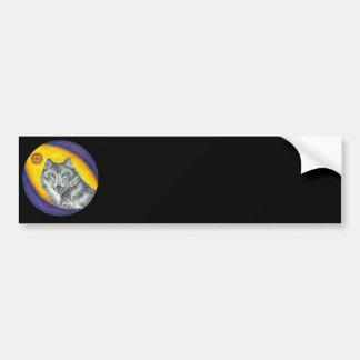 Shaman Healing Wolf Bumper Sticker