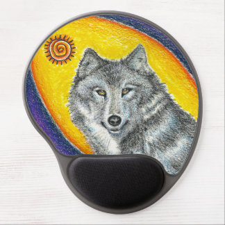 Shaman Healing Wolf Gel Mousepads