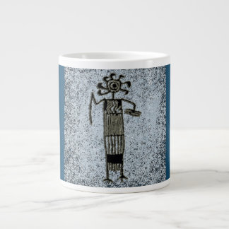 Shaman in ceremonial dress with mask/Headdress Giant Coffee Mug