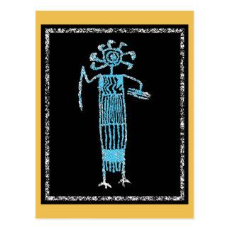Shaman in ceremonial dress with mask/Headdress Postcard