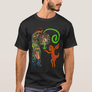 Shaman in the Spirit Realms (mens deluxe) T-Shirt