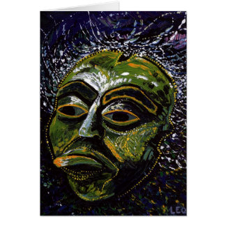 Shaman Mask Card