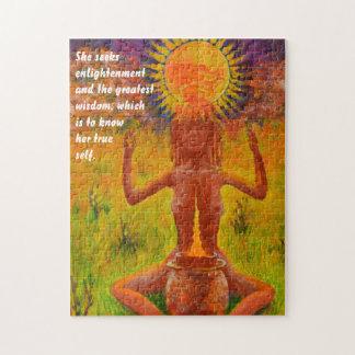 shaman meditating jigsaw puzzle