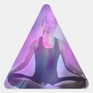 Shaman meditation yoga chakra zen chakra triangle sticker