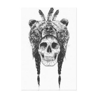 Shaman muerto (b&w) impresión en tela